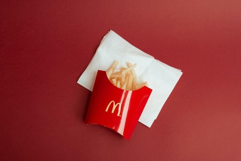 McDonalds Fries on a Napkin