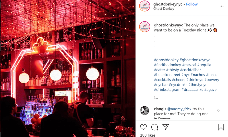 Bar Interior Social Media Post on Instagram