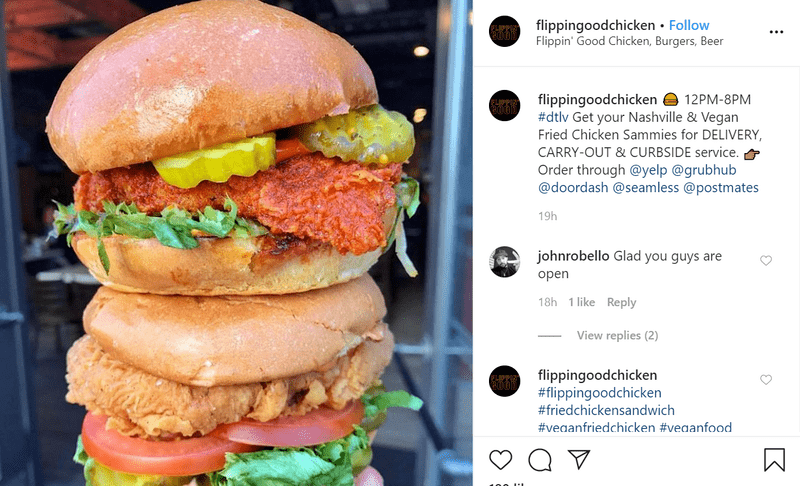 Burgers Stacked Together as an Instagram Post