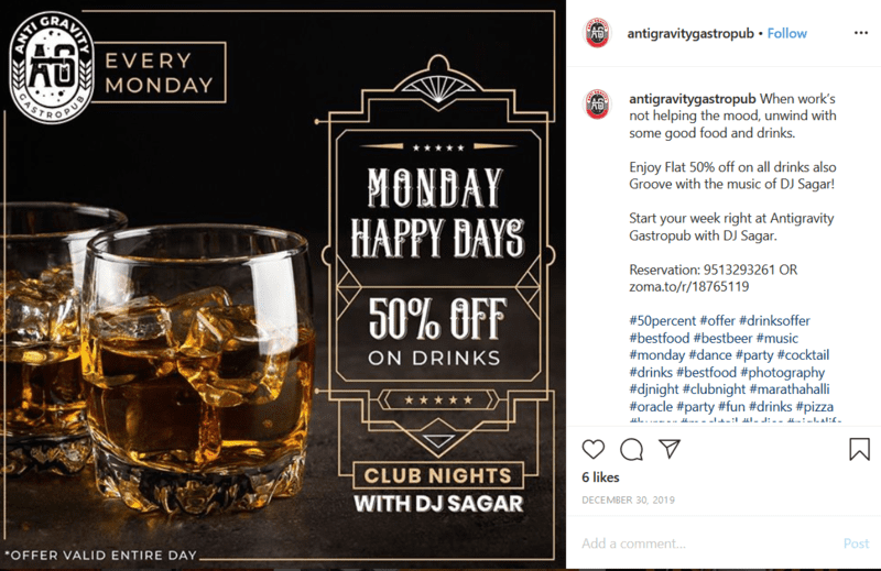 Social Media Bar Promotion Post