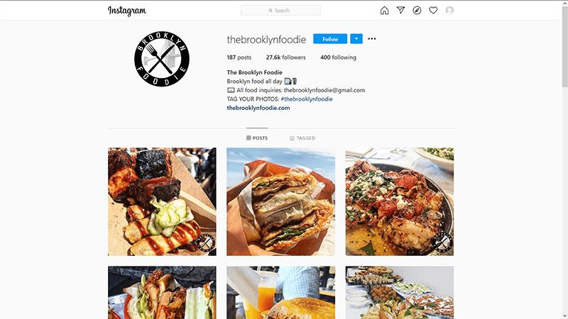 Brooklyn Foodie Instagram