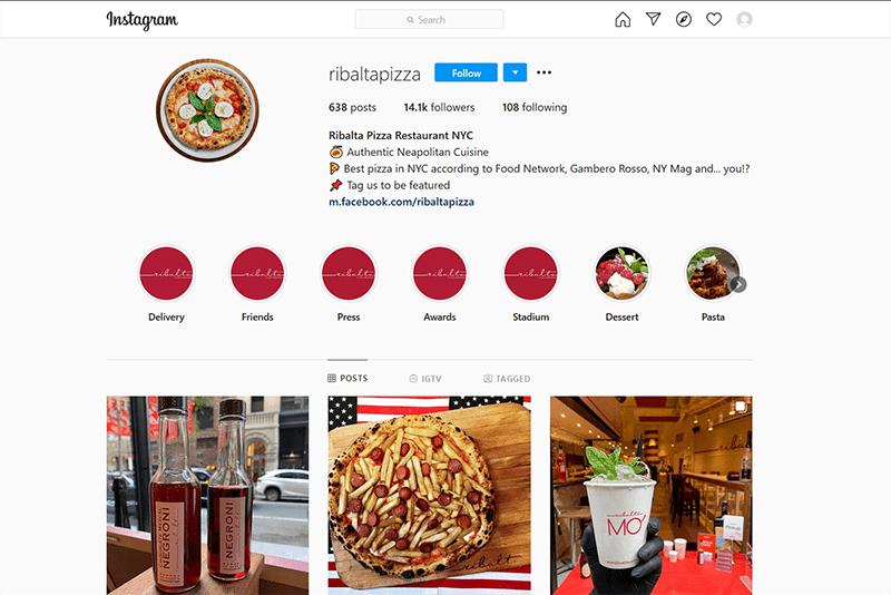 Ribalta Pizza Instagram