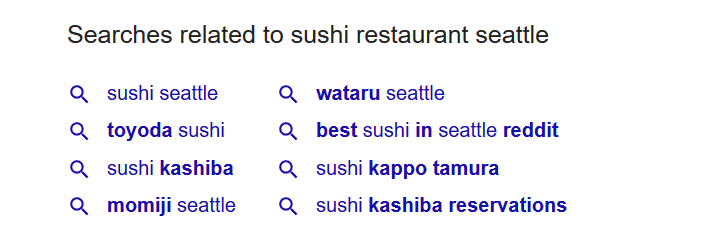 Sushi Restaurant Seattle Related Searches