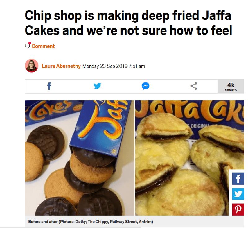 chippy antrim jaffa cake story