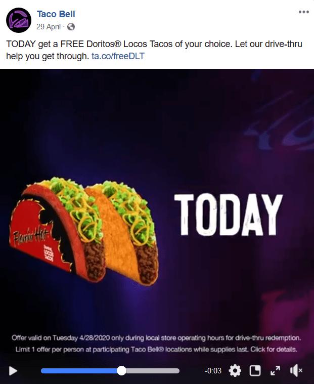 taco bell facebook ad