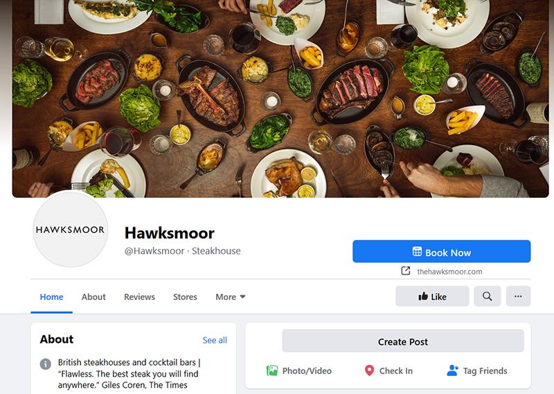 hawksmoor restaurant facebook page