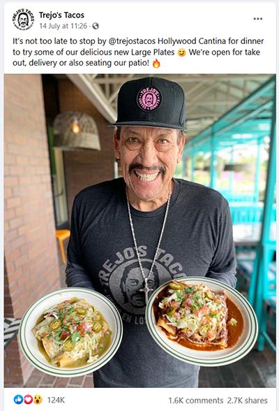 trejos tacos restaurant facebook page