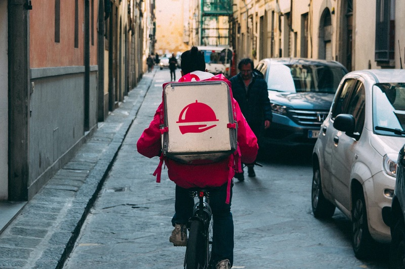 Delivery Driver on Bike
