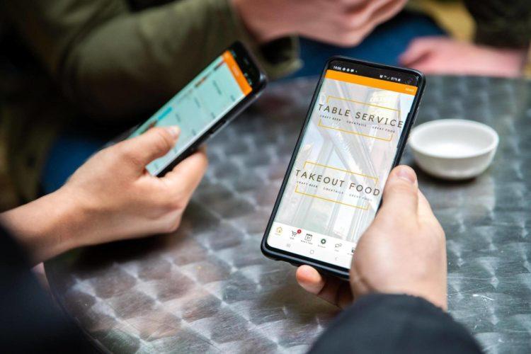 app-based menu