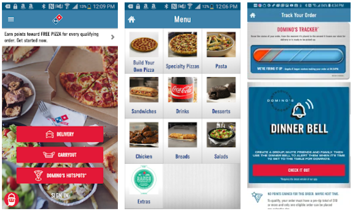 domino's restaurant app example
