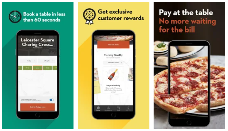 pizza express restaurant app example