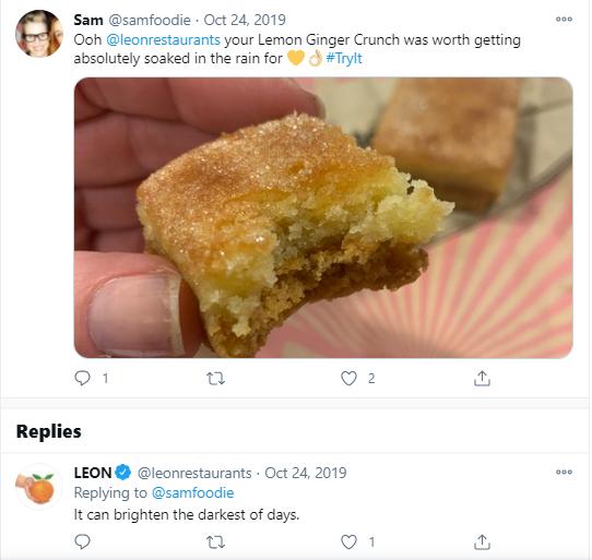leon cake tweet