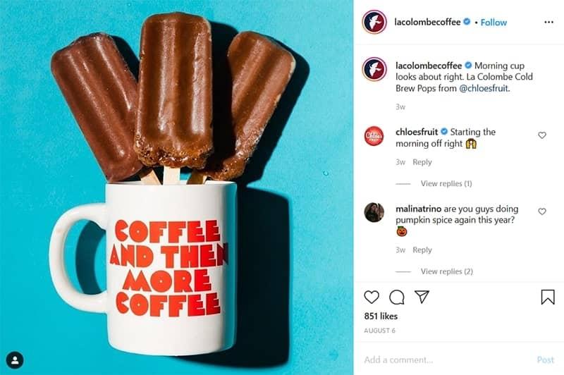 lacolombe coffee instagram
