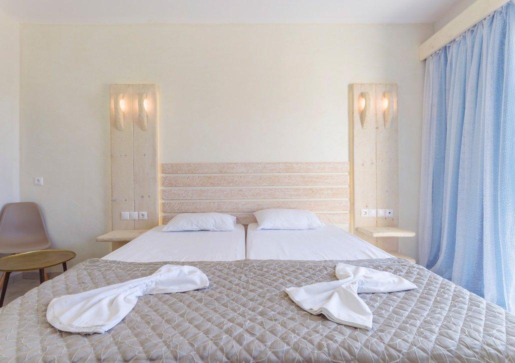 Το κρεβάτι του δωματίου