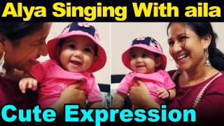 Alya singing with Aila cute expression | Sanjeev and Alya Manasa baby video