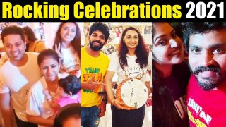 Celebrities New Year Celebrations 2021 || Sanjeev Alya Manasa, Kumaran || Tamil serial Actors