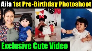 😍Cute Video: Alya Manasa daughter Aila Syed's Pre-Birthday Photoshoot || Aila Syed Viral video