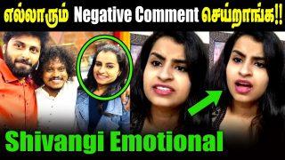 Shivangi Emotional About Negative comments|| shivangi feeling status|| cook with comali Latest