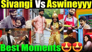 Cute video:Aswin VS Shivangi Best moments in cook with comali Full video