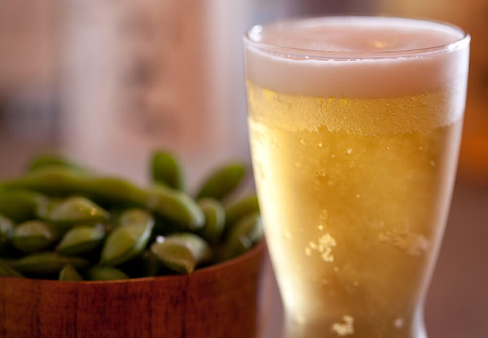 One Beer and Edamame