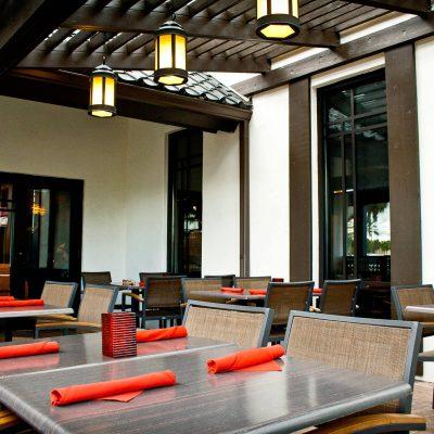 Samurai Restaurant Patio Area. Miami, Florida Location
