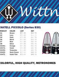Wittner Piccolo Metronomes