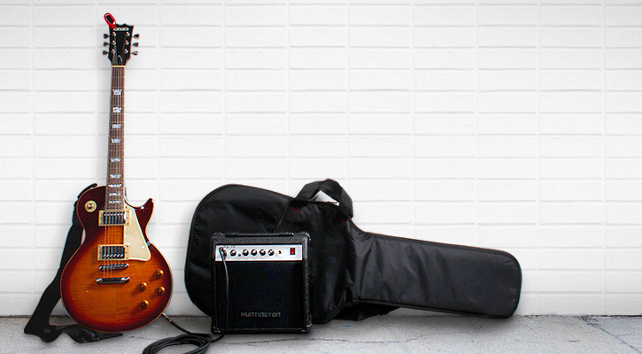 Tanara Electric Guitar Package with amplifier, tuner, bag, cable