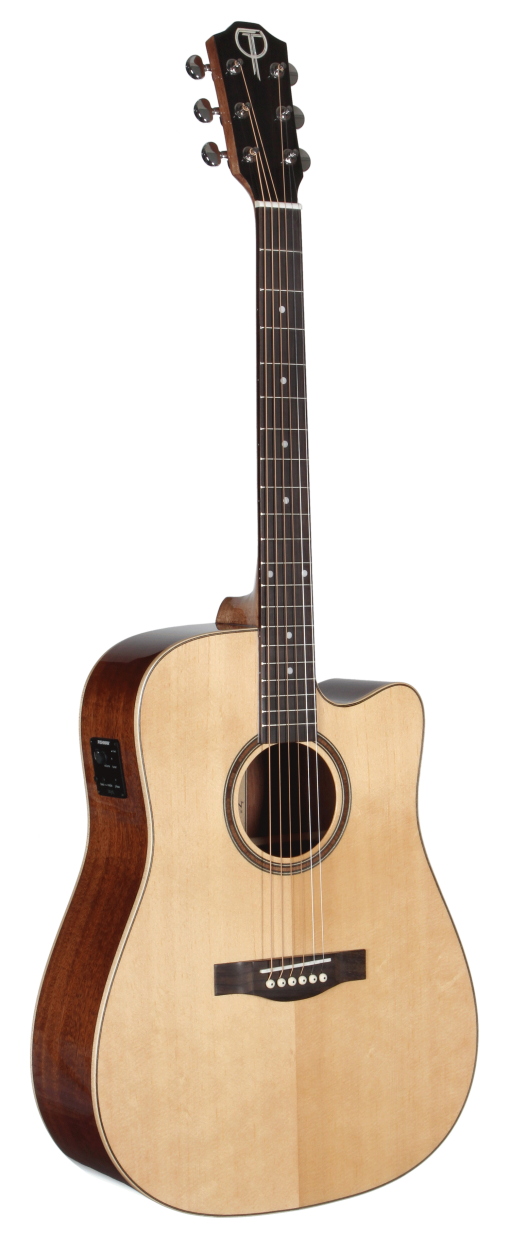 STS100CENT Acoustic Teton Guitar - Cutaway with Fishman Electronics
