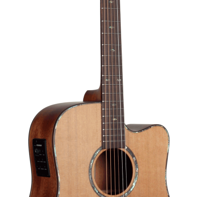 STS205CENT All Solid Western Red Cedar Top Teton Guitar