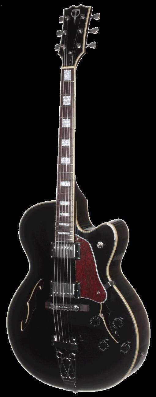 TEF50BK Teton Electric Hollow Body Guitar