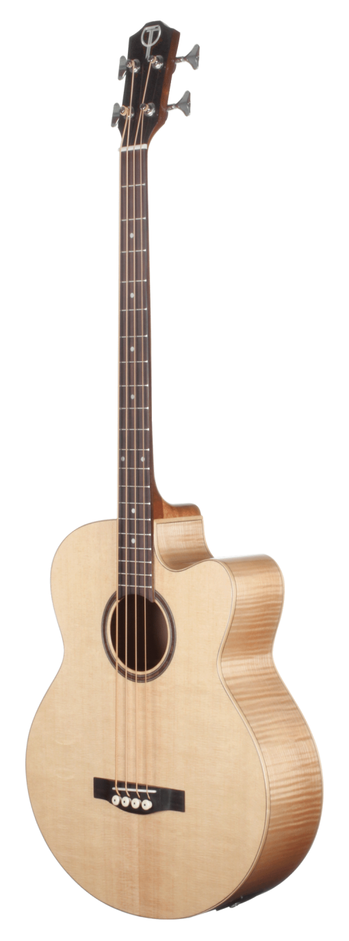 STB130FMCENT Spruce and Flame Maple Bass Acoustic Teton Guitar