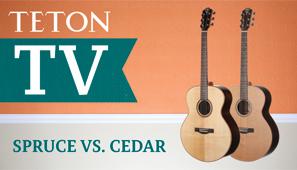 Spruce Vs Cedar Teton Guitars