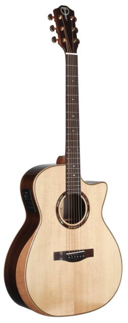 STA150CENT-AR Arm Rest Teton Guitar with a Solid Spruce Top