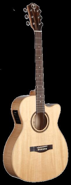 STG130FMCENT Flame Maple Teton Guitar
