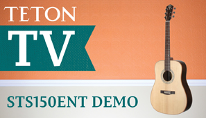 Teton Guitars STS150ENT Acoustic Guitar Demo