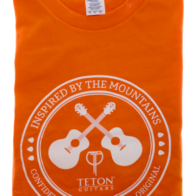 "Orange Teton Guitars T-shirt 2017 ""Inspired by the Mountains"""