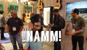 Teton Artists at Teton Guitars NAMM Booth in 2017