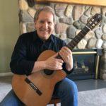 Teton Guitarist Mike Christiansen with his Classical Teton Guitar