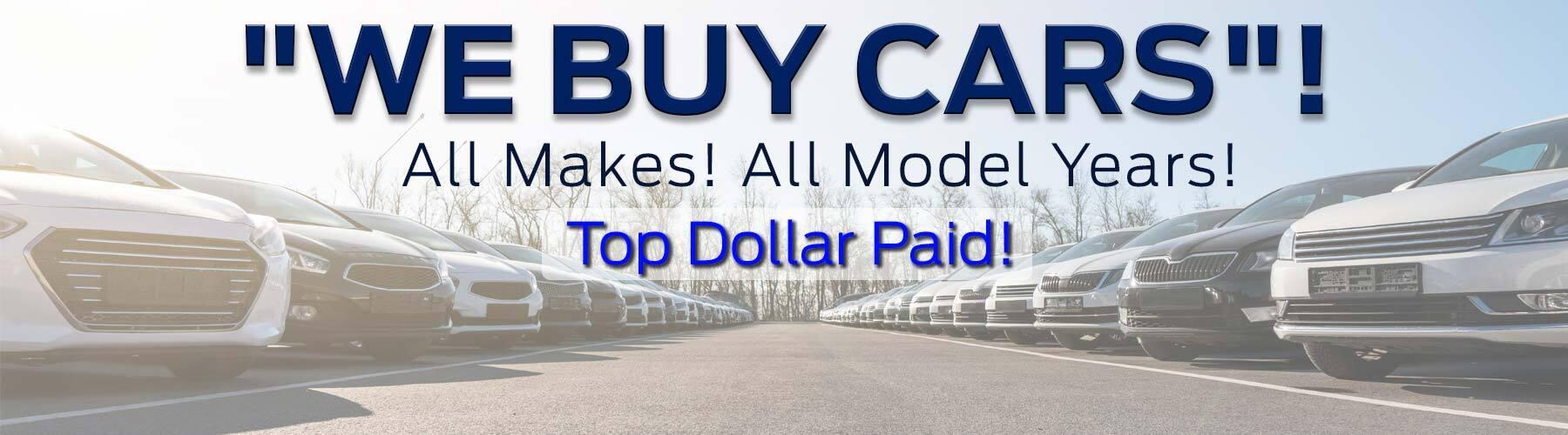 We Buy Used Vehicles