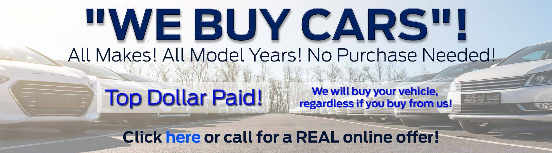 We Buy Cars Offer