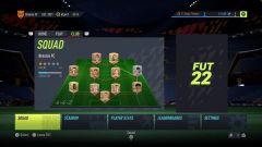 Menu FIFA 22 •Foto: EA Sports