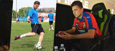 Lukáš Pour je nejlepším českým hráčem FIFA. Kromě online fotbalu, ale hraje také ten reálný •Foto: Koláž iSport.cz