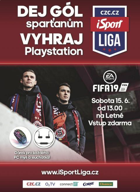 Dej gól sparťanům, vyhraj Playstation. Unikátní soutěž čeká na tebe 15. 6. na Letné! •Foto: iSportliga.cz
