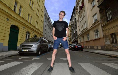 Youtuber Karel Kovář zvaný Kovy má se sportem bohaté zkušenosti •Foto: Michal Beránek / Sport