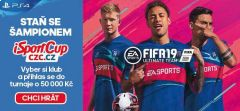 Dnes poslední šance v iSportCupu! Zahrajte si FIFA 19 o 50 tisíc a profi kontrakt