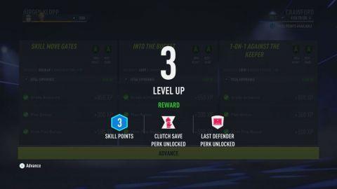 Level up v kariérním módu •Foto: EA Sports