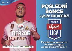 Staň se mistrem ve FIFA 20 a vyhraj 100 000 korun •Foto: isportliga.cz