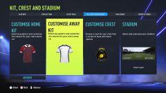Možnosti úpravy v kariérním módu •Foto: EA Sports