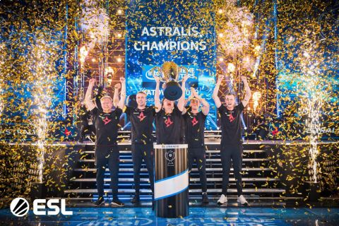 Vítězové turnaje v Katovicích - tým Astralis. •Foto: ESL