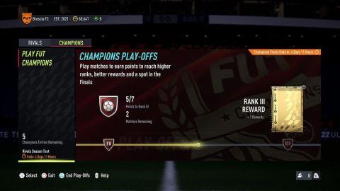 FUT Champs hub •Foto: EA Sports
